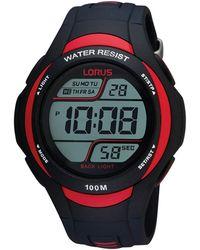 Lorus - Men's Black And Red Digital Watch R2307ex9 - Lyst