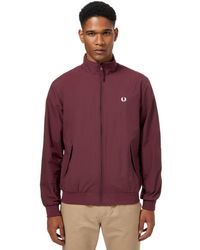 Fred Perry - Dark Red 'brentham' Jacket - Lyst