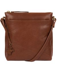 Conkca London - Conker Brown 'nikita' Leather Compact Cross-body Bag - Lyst