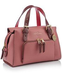 J By Jasper Conran Faux Leather 'holland Park' Grab Bag - Pink