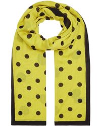 01fefa4be Hobbs Bryony Check Scarf in Natural - Lyst
