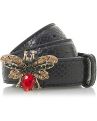 Dune - Black 'nicada' Bug Statement Belt - Lyst