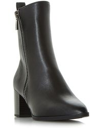 Dune - Black 'renay' Point Toe Calf Boots - Lyst