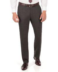 Ben Sherman - Charcoal Tonal Jaspe Check Plain Front Super Slim Fit Camden Suit Trouser - Lyst