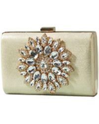 Yumi' - Light Gold Metallic Clutch Bag - Lyst