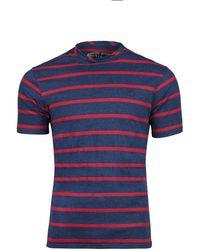 Raging Bull - Navy Stripe T-shirt - Lyst