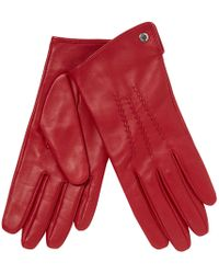J By Jasper Conran - Red 3 Point Leather Gloves - Lyst