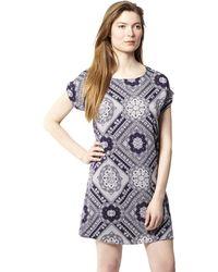 Izabel London - Navy Oriental Print Tunic Dress - Lyst