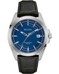 Bulova - Men's Blue Dial 'precisionist' Watch 96b257 - Lyst
