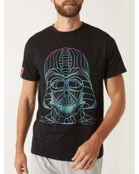 Burton - Star Wars Black T-shirt Pyjama Set - Lyst