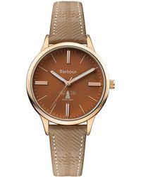 Barbour - Ladies Brown 'emberton' Leather Strap Watch - Lyst