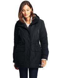 Lands' End Tall Squall Waterproof Coat - Black