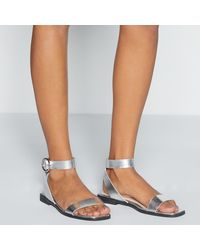 Faith Silver 'warley' Wide Fit Sandals - Multicolour
