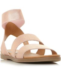 Steve Madden - Metallic 'delicious' Ankle Strap Sandals - Lyst