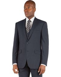 Racing Green - Slate Blue Puppytooth Tailored Fit 2 Button Suit Jacket - Lyst
