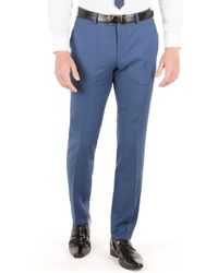 Ben Sherman - Mid Blue Textured Plain Front Super Slim Fit Camden Suit Trouser - Lyst