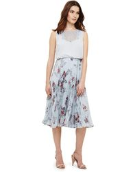 Phase Eight - Multi-coloured Patricia Pleated Floral Dress - Lyst