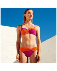 3f69b97b56 J By Jasper Conran - Multi-coloured Twist Bandeau Bikini Top - Lyst