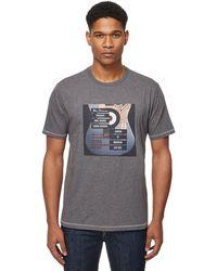 Ben Sherman - Grey Printed T-shirt - Lyst