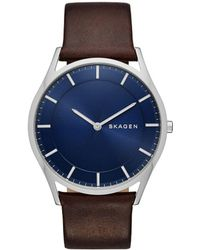 Skagen - Gents Brown Strap Watch Skw6237 - Lyst