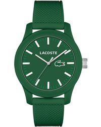 Lacoste - Men's L.12.12 Green Silicone Strap Watch 43mm 2010763 - Lyst