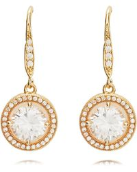 Anne Klein - Gold Eurowire Earrings - Lyst