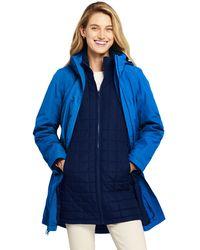 Lands' End Squall 3-in-1 Waterproof Coat - Blue