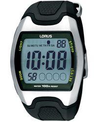 Lorus Men's Black And Silver Digital Watch R2335ex9 - Multicolour