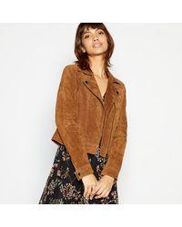 Vero Moda - Tan Suede 'royce' Jacket - Lyst
