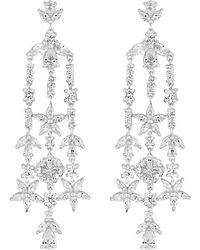 Jenny Packham - Designer Daisy Leaf Drop Earrings - Lyst