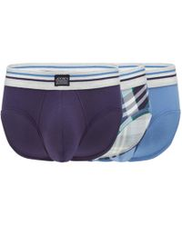 Jockey - 3 Pack Assorted Plain And Checked Briefs - Lyst