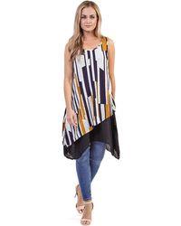 Izabel London - Multicoloured Asymmetric Tunic Top - Lyst