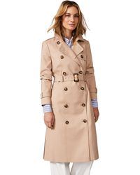 Phase Eight Stone Lise Long Trench Coat - Natural