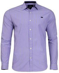Raging Bull - Purple Colour Stripe Shirt - Lyst