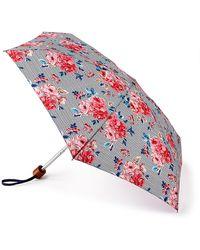 Cath Kidston Multi-colored Geo Brampton Rose 'tiny 2' Wind Resistant Umbrella - Multicolour