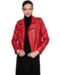 Mango - Red 'liz' Biker Jacket - Lyst