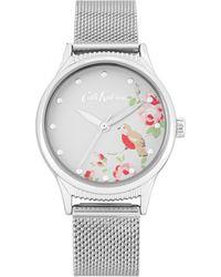 Cath Kidston Analogue Mesh Bracelet Watch Ckl091sm - Metallic