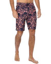 Red Herring - Pink Floral Skull Print Swim Shorts - Lyst