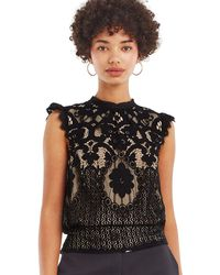 Oasis - Lace Shell Top - Lyst