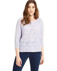 Studio 8 - Sizes 12-26 Pale Blue Suzette Knit Top - Lyst