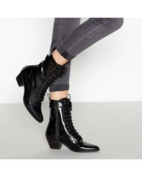 5dc0b82d1f4 Buckle 'bits' Lace-up Boots - Black