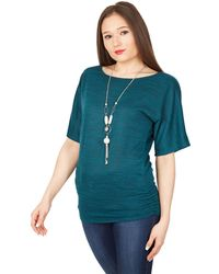 Apricot - Green Batwing Necklace Top - Lyst