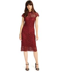Phase Eight - Dark Red Becky Lace Dress - Lyst