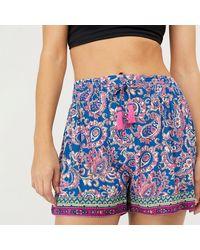 Monsoon Blue 'neena' Printed Ecovero Shorts