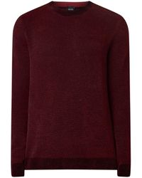 BOSS Afulos Pullover Van Chenille In Wolblend - Paars