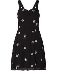 Mango Antonio Mini-jurk Met Dessin - Zwart