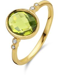 Diamond Point Geelgouden Ring 2-23 Ct Peridoot Philosophy - Metallic
