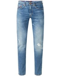 Tommy Hilfiger Tapered Fit Jeans Met Ripped Details - Blauw