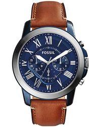 Fossil Grant Horloge Fs5151 - Metallic