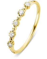 Diamond Point Geelgouden Ring 0-17 Ct Diamant Joy - Metallic
